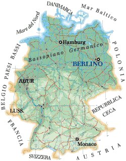 Germania Cartina Fiumi.Germania Cartina