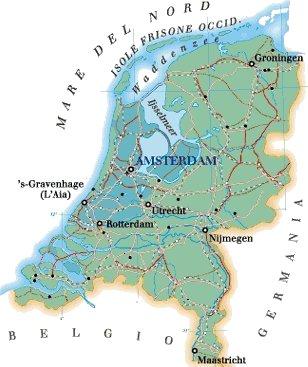 Fiumi Cartina Fisica Olanda.Olanda Cartina